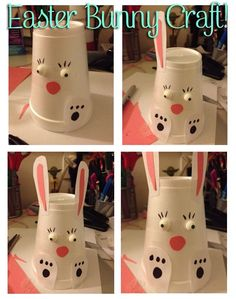 DIY Easter Bunny. Fun Easter Bunny Craft for Kids!  This is too cute.  Me & my girls are going to make these for there class party