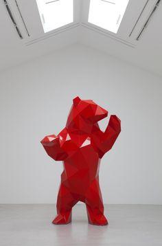 Les sculptures à facettes de Xavier Veilhan xavier veilhan polygone 04 606x920