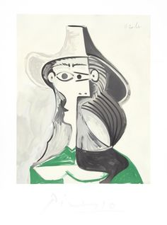 "Pablo Picasso, ""Femme Profile"" - Discovered using GetBeautify.com"