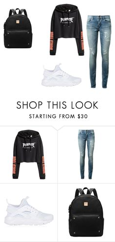 """""""Untitled #44"""" by danielaflowero on Polyvore featuring Yves Saint Laurent and NIKE"""