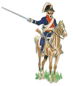 Carabineros Reales. Escuadrón de línea 1808-14