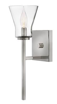 One Light Wall Sconce Lighting Showroom, Wall Sconce Lighting, Wall Sconces, One Light, Steel Frame, Glass Shades, Ceiling Fan, Clear Glass, Light Fixtures