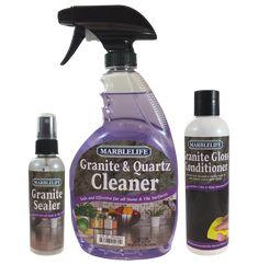 Marblelife Granite Countertop Clean Seal Care Kit Kitchencountertopsgranitetips Sealer Caring