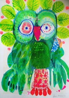 Bird Artwork, Bird Paintings, Brazil Art, Art Programs, Owl Art, Naive Art, Art Journal Inspiration, Art Education, Art Lessons