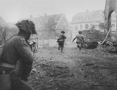 British 7th Armoured Division Clearing Village Near Stadtlohn March 1945