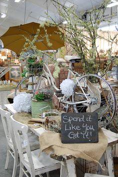 great flea market display
