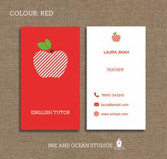 Substitute teacher business card template teaching business cards printable stylish elegant teacher tutor education business card calling card for your business in a choice of 4 colours flashek Gallery