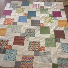 Incredible Disappearing Nine Patch Quilt - made many times although done in light & dark scraps - not with white.