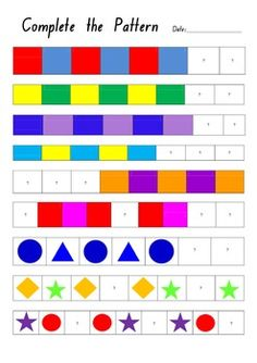 m and m pattern worksheet center i love school pinterest worksheets patterns and math. Black Bedroom Furniture Sets. Home Design Ideas