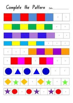 kindergarten pattern worksheets teacher idea factory ice cream patterns 1 2 3 come find me kinder math pinterest kindergarten - Color Pattern Worksheets