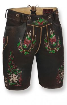 Short traditional leather trousers Doc bog short h-beam.