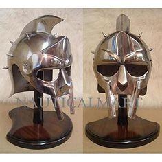 NauticalMart Gladiator Helmet of Maximus Gladiator Helmet, Knights Helmet, Kitchen Aid Mixer, Helmets, Home Appliances, Amazon, Objects, Body Armor, Hard Hats