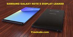 Samsung Galaxy Note 8 Display Leaked