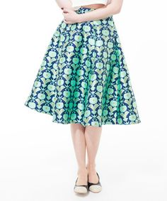 Look what I found on #zulily! Floral Turquoise Sina's Seoul Skirt by Alice's Pig #zulilyfinds