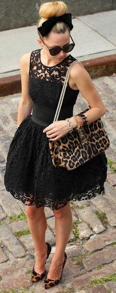 Lace & Leopard ♥ #lbd