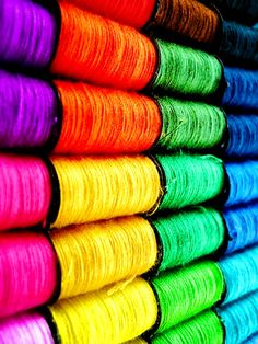 #Rainbow #colors ToniK ❖de l'arc-en-ciel❖❶ Colorful thread #spools