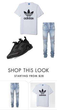 """""""Untitled #30"""" by dessygirl0301 ❤ liked on Polyvore featuring Balmain, adidas, NIKE, men's fashion and menswear"""