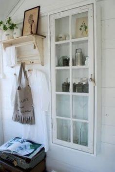 wood window repurpose bathroom - Google Search