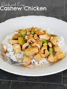Quick and Easy Cashew Chicken on MyRecipeMagic.com