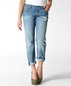 Levi's 501® Boyfriend Jeans  been wearing them since 8th grade.  still do. and still a 27 inch waist!