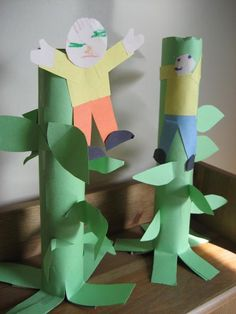 Jack and the Beanstalk Craft for a Fairy Tale Theme Day.  Fairy Tale Week