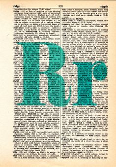 Repurposed Dictionary Art...R by SimpleeSaid on Etsy, $4.50