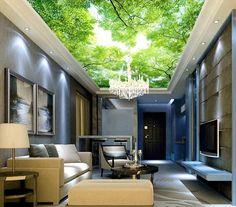 Cheap Personalizado papel pintado techo, cielo azul y los murales de la sala de…