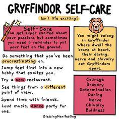 Harry Potter House Self-Care Ideas