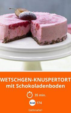 Zwetschgen-Knuspertorte mit Schokoladenboden - Hmm, so lecker! Und bis auf den Zucker in der Schokolade funktioniert das Rezept ganz ohne Zucker.