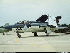 Perhaps one of the best jet aircraft produced by British aircraft manufacturers, this Blackburn Buccaneer was given an airing in the static display at the 1994 Yeovilton Airshow. - Photo taken at Yeovilton (YEO / EGDY) in England, United Kingdom on July Air Force Aircraft, Ww2 Aircraft, Fighter Aircraft, Aircraft Carrier, Fighter Jets, Navy Aircraft, Uk Navy, Royal Navy, Military Jets