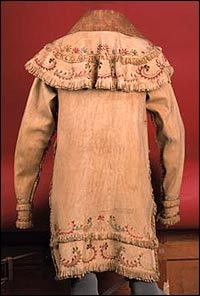 Caped Skin Coat   Plains Cree or Metis, 1860-1870  Upper Missouri country