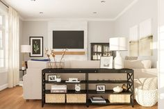Layout Guide: Designing a Long Open, Living/Dining Room Living Room Bookcase, Living Room Storage, Living Room With Fireplace, Living Room Chairs, Dining Room, World Of Interiors, Open Space Living, Formal Living Rooms, Long Room