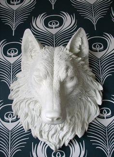 Wolf Head Faux Taxidermy Wall Decor Willem the by mahzerandvee, $120.00