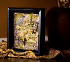 Tribute to Autumn Shadowbox, Delicious Autumn Shadowbox, George Eliot Shadowbox Art by HomegrownShadowbxArt on Etsy, $70