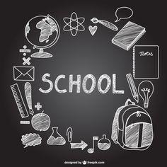 school chalkboard icons on free vector welcome back to art School Icon, Art School, Back To School, School Office, School Chalkboard Art, Sketch Icon, Photos Hd, Chalkboard Designs, Chalk Drawings