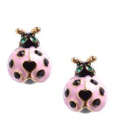 Lady bugs earrings