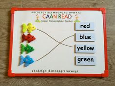 These small magnetic white boards like the one included in your CAAN Read Kit are a great resource to have at home so your child can practice their short lessons on the go in the car, in waiting rooms, on vacation, etc. White Boards, Magnetic White Board, Preschool Age, Animal Alphabet, Waiting Rooms, Alphabet And Numbers, Your Child, Colours, Kit