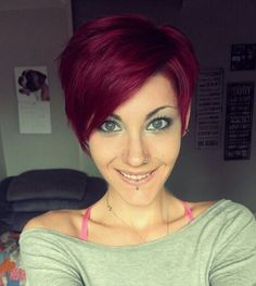 Cute red pixie cut