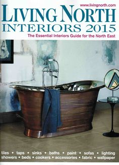 Our premium roller blind with fabric changer option appears in Living North 2015 Interior special #blinds #bathroomwindows