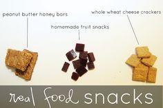 Recipes for kid's snacks