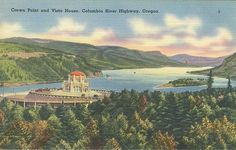 Crown Point and Vista House - Columbia River