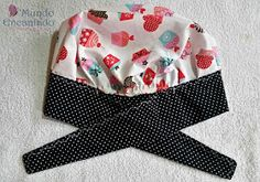 Scrub Hat Patterns, Hat Patterns To Sew, Love Sewing, Baby Sewing, Freehand Machine Embroidery, Hat Tutorial, Bazaar Ideas, Funky Design, Aprons Vintage