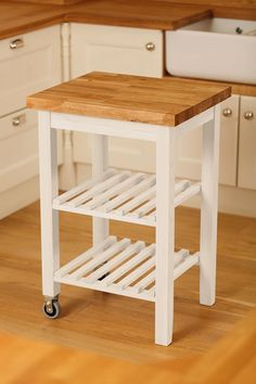 Superieur Kitchen Island Trolley From Solid Wood Kitchen Cabinets®. Each Wood Kitchen  Trolley Is Available Lacquered With A Beech Worktop Or Painted With An Oak  ...