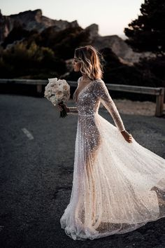 Luxury A Line Tulle Wedding Dresses Crew Neck Sheer Long Sleeve Beach Bohemian Bridal Gowns · bettybridal · Online Store Powered by Storenvy Junior Bridesmaid Dresses, Long Wedding Dresses, Colored Wedding Dresses, Wedding Dress Styles, Bridal Dresses, Tulle Wedding, Wedding Gowns, Wedding Bride, Wedding Outfits