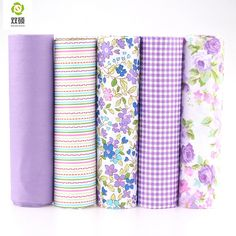 100% Tissus Cotton Fabric Telas Patchwork Fabric Fat Quarter Bundles Fabric For Sewing DIY Crafts Purple Color 40*50cm 5pcs/lot