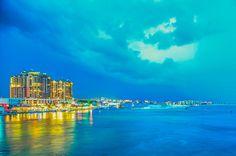 Storm Clouds Over Destin Florida Sailcloth Print