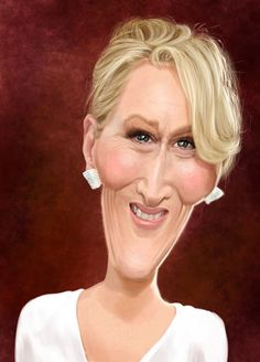 "CARICATURAS DE FAMOSOS: ""Meryl Streep"" por Ed Van Der Linden"