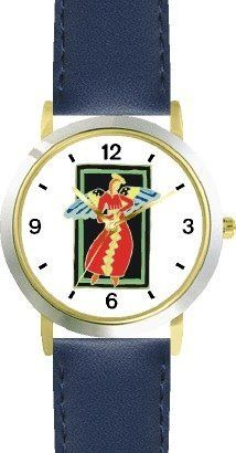 Woman Angel in Red & Gold - Cherub, Angel or Cupid Theme - WATCHBUDDY® DELUXE TWO-TONE THEME WATCH - Arabic Numbers - Blue Leather Strap-Children's Size-Small ( Boy's Size & Girl's Size ) WatchBuddy. $49.95. Save 38%!