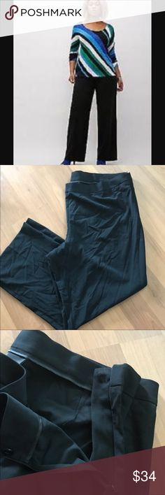 {Lane Bryant} Wide Leg stretch dress pant NWOT. Lane Bryant dress trousers. Features a wide leg, material with stretch, and a side zipper closure. Size 28. Lane Bryant Pants Wide Leg