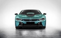 Download wallpapers BMW i8, sports electric car, camouflage, green sports car, BMW